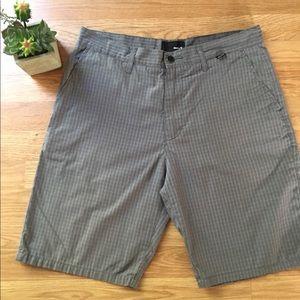 Hurley Gray Plaid Shorts